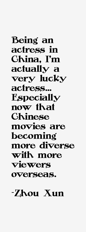 Zhou Xun Quotes