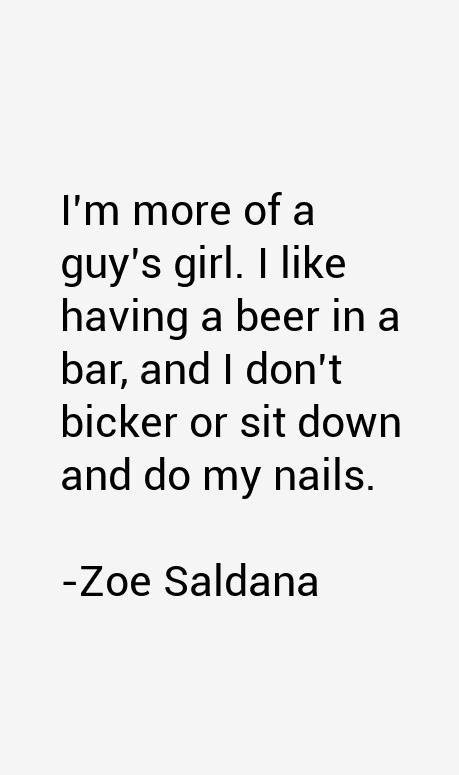 Zoe Saldana Quotes
